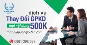 Thay đổi giấy phép kinh doanh- nhanh chóng tiện lợi